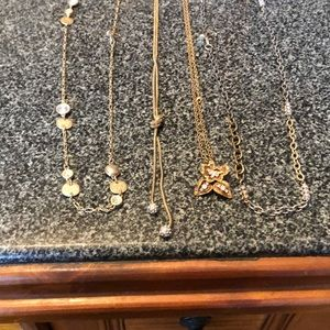 4 crystal necklaces Ann Taylor